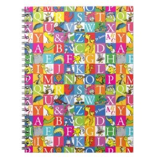 Dr. Seuss's ABC Colorful Block Letter Pattern Notebook