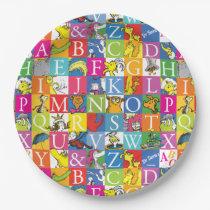 Dr. Seuss's ABC Colorful Block Letter Pattern Paper Plate