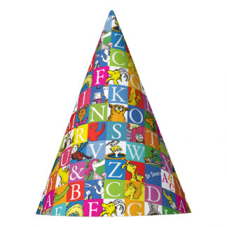 Dr. Seuss's ABC Colorful Block Letter Pattern Party Hat