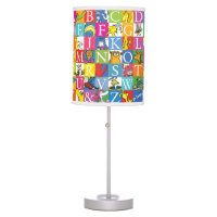Dr. Seuss's ABC Colorful Block Letter Pattern Table Lamp
