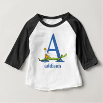 Dr. Seuss's ABC: Letter A  - Blue | Add Your Name Baby T-Shirt