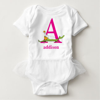 Dr. Seuss's ABC: Letter A - Pink | Add Your Name Baby Bodysuit