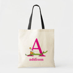 Dr. Seuss's Abc: Letter A - Pink | Add Your Name Tote Bag at Zazzle