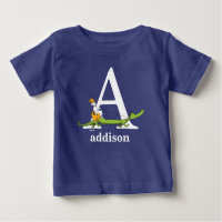 Dr. Seuss's ABC: Letter A - White | Add Your Name Baby T-Shirt