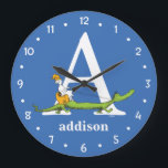 "Dr. Seuss&#39;s ABC: Letter A - White | Add Your Name Large Clock<br><div class=""desc"">This Dr. Seuss ABC: Letter A design is the perfect gift for a baby shower or your child&#39;s first or second birthday.  Personalize this design by adding your child&#39;s name or by changing the background color on the product.</div>"