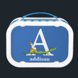 """Dr. Seuss&#39;s ABC: Letter A - White   Add Your Name Lunch Box<br><div class=""""desc"""">This Dr. Seuss ABC: Letter A design is the perfect gift for a baby shower or your child&#39;s first or second birthday.  Personalize this design by adding your child&#39;s name or by changing the background color on the product.</div>"""