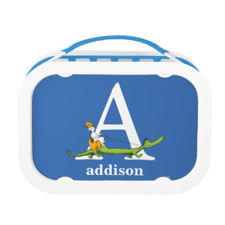 Dr. Seuss's ABC: Letter A - White | Add Your Name Lunch Box