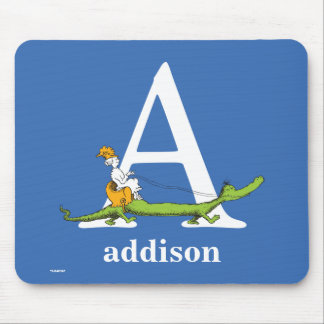 Dr. Seuss's ABC: Letter A - White | Add Your Name Mouse Pad