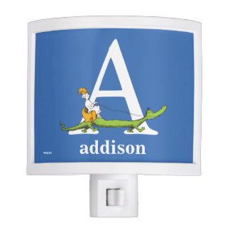 Dr. Seuss's ABC: Letter A - White | Add Your Name Night Light