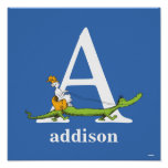 Dr. Seuss's ABC: Letter A - White   Add Your Name Poster