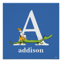 Dr. Seuss's ABC: Letter A - White | Add Your Name Poster