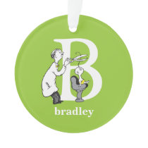 Dr. Seuss's ABC: Letter B - White | Add Your Name Ornament