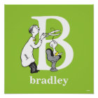 Dr. Seuss's ABC: Letter B - White | Add Your Name Poster