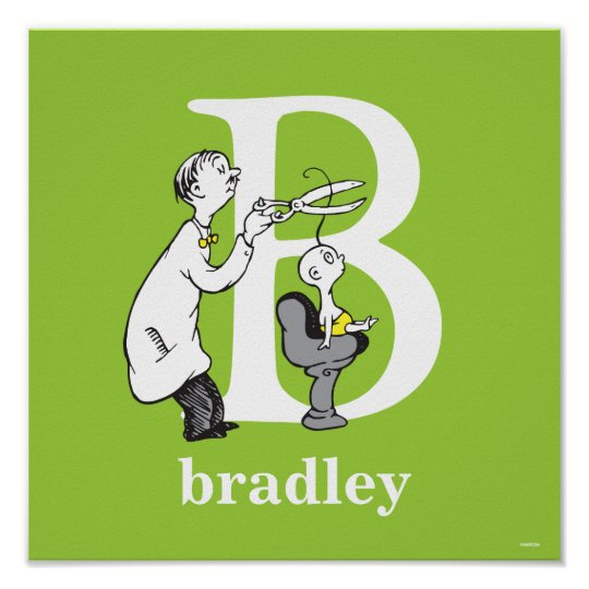 Dr Seusss Abc Letter B White Add Your Name Poster Zazzle