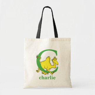 Dr. Seuss's ABC: Letter C - Green | Add Your Name Tote Bag
