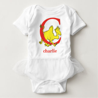 Dr. Seuss's ABC: Letter C - Red | Add Your Name Baby Bodysuit