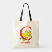 Dr. Seuss's ABC: Letter C - Red   Add Your Name Tote Bag