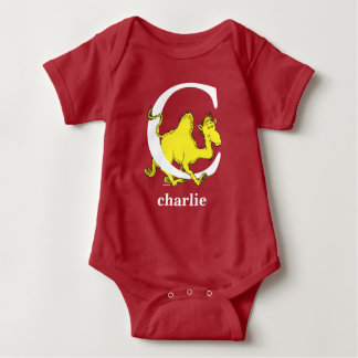 Dr. Seuss's ABC: Letter C - White | Add Your Name Baby Bodysuit