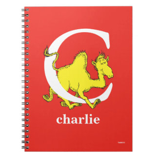 Dr. Seuss's ABC: Letter C - White | Add Your Name Notebook