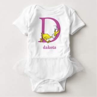 Dr. Seuss's ABC: Letter D - Purple | Add Your Name Baby Bodysuit