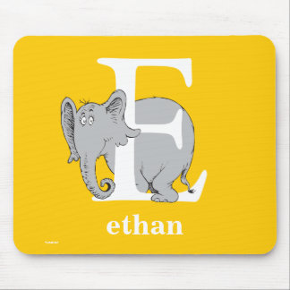 Dr. Seuss's ABC: Letter E - White | Add Your Name Mouse Pad