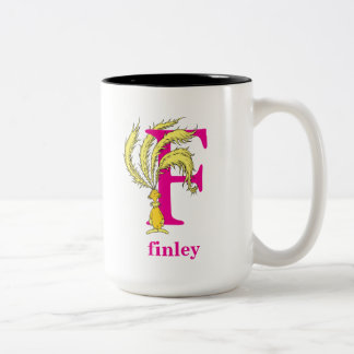 Dr. Seuss's ABC: Letter F - Pink   Add Your Name Two-Tone Coffee Mug