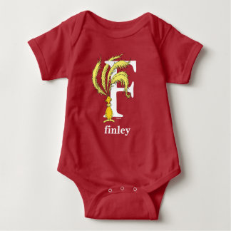 Dr. Seuss's ABC: Letter F - White | Add Your Name Baby Bodysuit