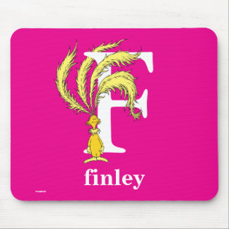 Dr. Seuss's ABC: Letter F - White | Add Your Name Mouse Pad