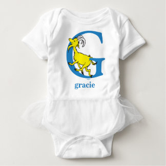 Dr. Seuss's ABC: Letter G - Blue | Add Your Name Baby Bodysuit