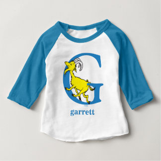 Dr. Seuss's ABC: Letter G - Blue | Add Your Name Baby T-Shirt