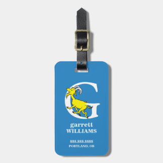 Dr. Seuss's ABC: Letter G - White | Add Your Name Luggage Tag