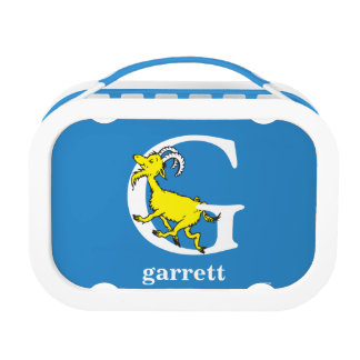 Dr. Seuss's ABC: Letter G - White | Add Your Name Lunch Box