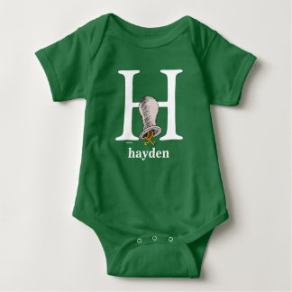 Dr. Seuss's ABC: Letter H - White | Add Your Name Baby Bodysuit