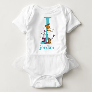 Dr. Seuss's ABC: Letter J - Teal | Add Your Name Baby Bodysuit