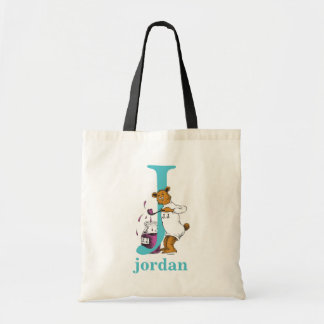 Dr. Seuss's ABC: Letter J - Teal | Add Your Name Tote Bag