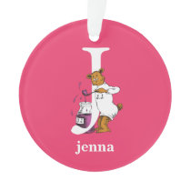 Dr. Seuss's ABC: Letter J - White | Add Your Name Ornament