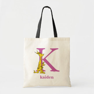 Dr. Seuss's ABC: Letter K - Purple | Add Your Name Tote Bag
