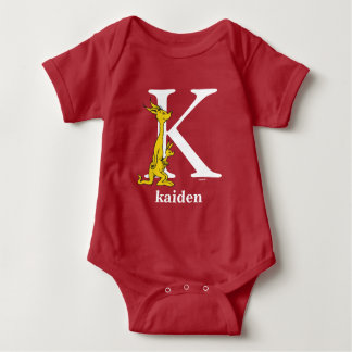 Dr. Seuss's ABC: Letter K - White | Add Your Name Baby Bodysuit