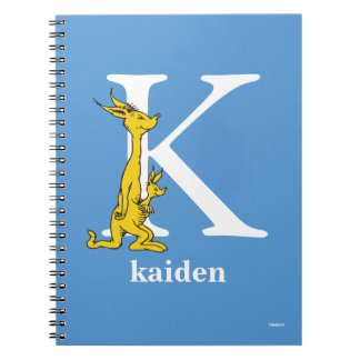 Dr. Seuss's ABC: Letter K - White | Add Your Name Notebook