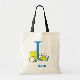 Dr. Seuss's ABC: Letter L - Blue | Add Your Name Tote Bag