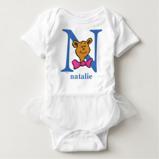 Dr. Seuss's ABC: Letter N - Blue | Add Your Name Baby Bodysuit