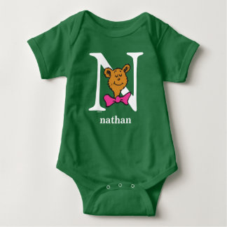 Dr. Seuss's ABC: Letter N - White | Add Your Name Baby Bodysuit