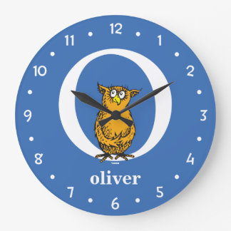 Dr. Seuss's ABC: Letter O - White | Add Your Name Large Clock
