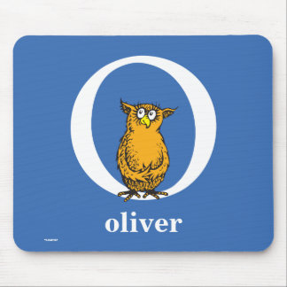 Dr. Seuss's ABC: Letter O - White | Add Your Name Mouse Pad