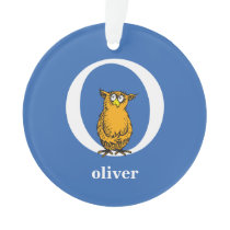 Dr. Seuss's ABC: Letter O - White   Add Your Name Ornament