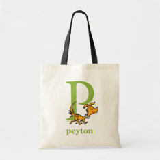Dr. Seuss's Abc: Letter P - Green | Add Your Name Tote Bag at Zazzle
