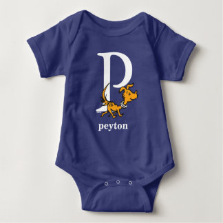 Dr. Seuss's ABC: Letter P - White | Add Your Name Baby Bodysuit