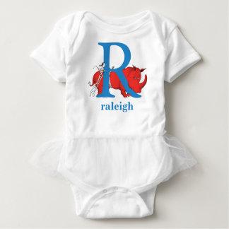 Dr. Seuss's ABC: Letter R - Blue | Add Your Name Baby Bodysuit