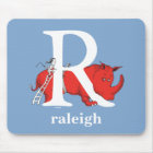 Dr. Seuss's ABC: Letter R - White | Add Your Name Mouse Pad