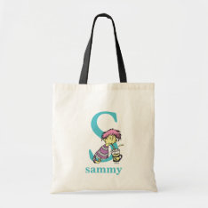 Dr. Seuss's Abc: Letter S - Blue | Add Your Name Tote Bag at Zazzle